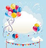 Festive balloons background — Stock Vector