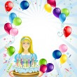Birthday  background — Stockvectorbeeld
