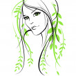 Beauty floral woman — Image vectorielle