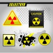 Stock Vector: Warning radiation signs