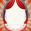 Stock Vector: Vintage circus background