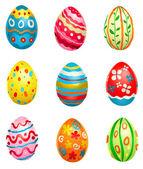 Bemalte eier — Stockvektor