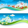 Vector de stock : Summer positive banners