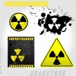 Warning radiation signs — Stock Vector