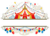 Circus tent frame — Stock Vector