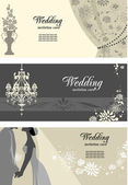 Wedding cards with space for text — Stock Vector