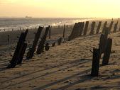 Strand, spurn point, — Stockfoto