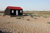 Rye harbour, East Sussex, Fishermans hut — Stock Photo
