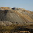Slag heap from copper mine works — Stock Photo