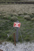 Landmines sign — Stock Photo