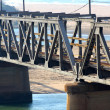 Old Railway Bridge Crossing Lagoon — Stock Photo