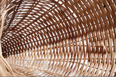 Wicker Basket Closeup Abstract — Stock Photo