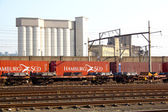 Freight Train On The Track — 图库照片