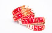 Solo rojo y blanco cinta métrica — Foto de Stock