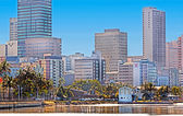 Durban South Africa City Skyline From Harbor — Stock Photo