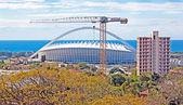 Durban South Africa Moses Mabhida Football Stadium and Crane — Stock Photo