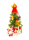 Small Decorated Christmas Tree — Stock Photo