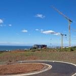 Three Tower Cranes Against Skyline In Umhlanga Durban South Afri — Stock Photo