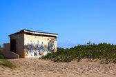 Public Toilet on Sand Dune at Beach — Stock Photo