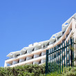Abstract View Of Coastal Residential Building on Blue Sky — Stock Photo