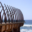 Stock Photo: Scenic View Of Pier At UmhlangRocks DurbSouth Africa