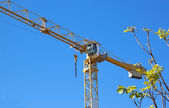 Close Up Of Tower Crane Used In Construction Industry — Stok fotoğraf