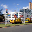 South African Flags Being Erected At Half-Mast — Stock Photo