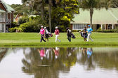 Golfers at Mount Edgecombe Golf Club in Durban South Africa — Stock Photo