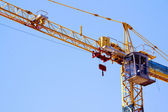 Control Cabin Arm And Pulleys On High Lift Crane — Stock Photo