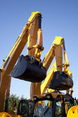 Pair Of Excavators Arms Next to Each Other — Stock Photo