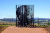 Metal Sculpture Of Nelson Mandela At His Capture Site — Stock Photo