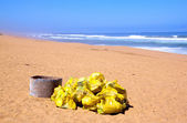 Garbage Collected And Placed In Bags Ready For Collection — Stock Photo