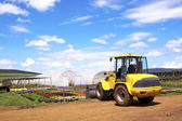 Payloader Utilized For Heavy Lifting At Commercial Horticultural — Stock Photo