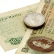 Vintage South African Banknotes And Silver Coins — Stock Photo