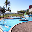 Bright Blue Swimming Pool on Beacfront in Durban — Stock Photo #40479051