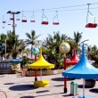 Colorful Amusement Park on Beachfront in Durban — Stock Photo