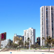 Stock Photo: Beach View of Buildings along Beachfront in DurbSouth Africa