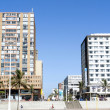 Residential and Commercial Buildings on Beachfront in Durban Sou — Stock Photo #40713917