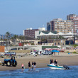 Skiboat Club and Beachfront in Durban South Africa — Stock Photo