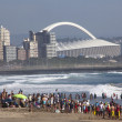 Crowd gathered on Beach in DurbSouth Africa — Stock Photo #41075721