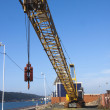 Idle Mobile Crane at Construction Site in Harbor — Stock Photo #41076471