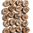 Collection of Ideographic Runes Depicting Celtic Viking Symbols — Stock Photo