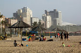 North Beach Beachfront In Durban South Africa — Photo