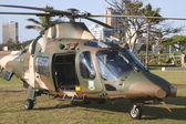South African Military Helicopter On Durban Beach Front — Stock Photo