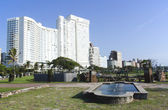 Pond in Lawn Outside Hotel on Durban Beachfront — Stock Photo