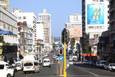 West Street in Durban South Africa on Saturday Morning — Stok fotoğraf
