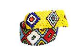 Two Zulu Beadwork Bracelets in Bright Colors — Stock Photo