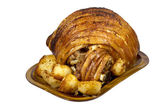 Roast Leg of Pork with Crispy Potatoes — Foto Stock