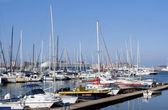 Yachts moored At jetty in Durban Harbor — Stock Photo