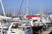 Closeup of Yachts Moored at Wilsons Wharf Durban — Stock Photo